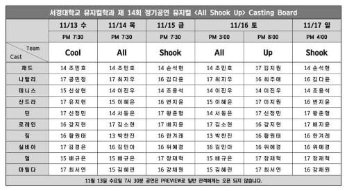 서경대학교 뮤지컬학과 제14회 정기공연 [ALL SHOOK UP] 캐스팅 보드.jpg